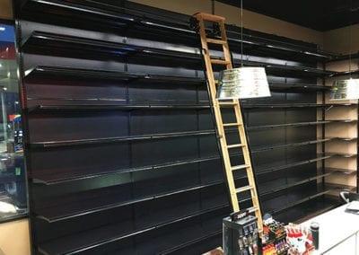 Liquor Store Shelving - Wood Ladder 12ft